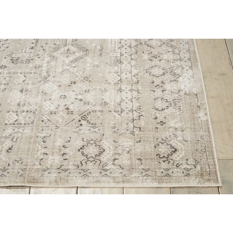 kathy ireland Silver Screen Tribal Floral Area Rug