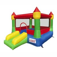 ALEKO Inflatable Royal Castle House Jump and Slide Bouncer with Blower