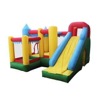 ALEKO Inflatable Fun Slide Bounce House with Ball Pit and Blower