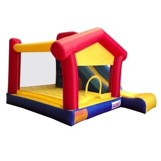 ALEKO Inflatable Large Playhouse Jump and Slide Bouncer