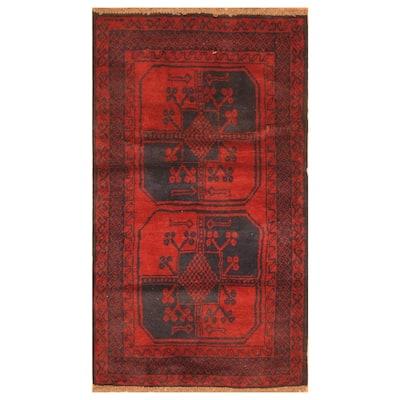 Handmade One-of-a-Kind Balouchi Wool Rug (Afghanistan) - 2'11 x 4'11