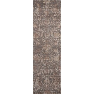 """Nourison Lucent Distressed Brown Runner Rug - 2'3"""" x 8'"""