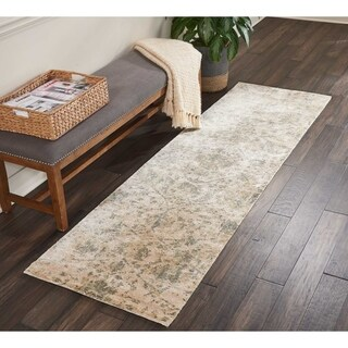 """Nourison Lucent Distressed Pearl Runner Rug - 2'3"""" x 8'"""