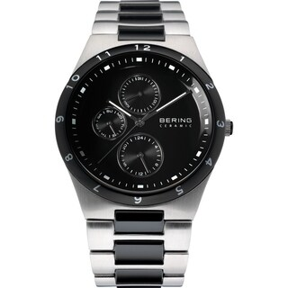 Bering Men's 'Ceramic' Multi-Function Two-Tone Stainless steel and Ceramic Watch