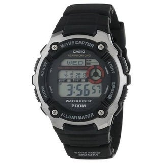 Casio Men's WV-200A-1AV 'Classic' Digital Black Rubber Watch