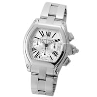 Cartier Men's W62019X6 'Roadster' Chronograph Automatic Stainless Steel Watch