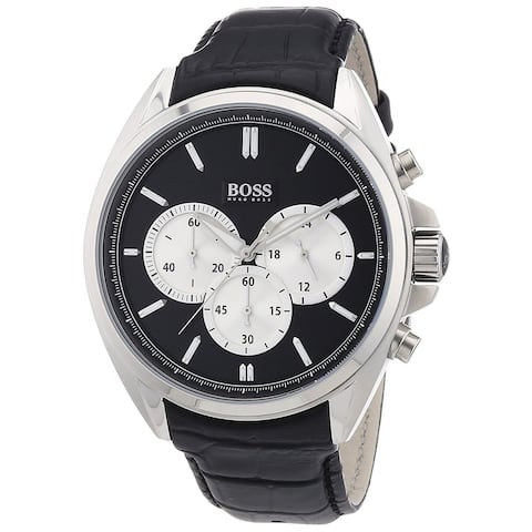 Hugo Boss Men's 1512879 Chronograph Black Leather Watch