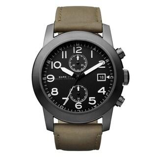 Marc Jacobs Men's MBM5034 'Larry' Chronograph Olive Leather Watch