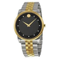 Movado Men's 'Museum' Diamond Two-Tone Stainless Steel Watch