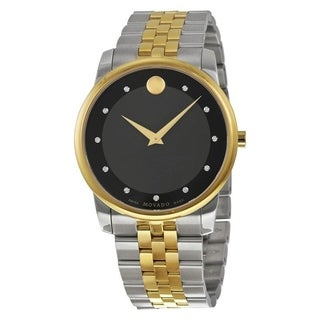 Movado Men's 0606879 'Museum' Diamond Two-Tone Stainless Steel Watch
