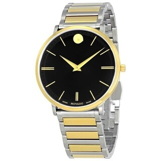 Movado Men's 'Ultra Slim' Two-Tone Stainless Steel Watch