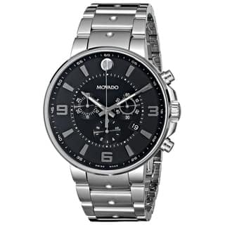 Movado Men's 0606759 'SE. Pilot' Chronograph Stainless Steel Watch