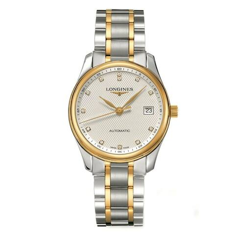 Longines Men's L25185777 'Master' 18kt Yellow Gold Diamond Automatic Two-Tone Stainless Steel Watch