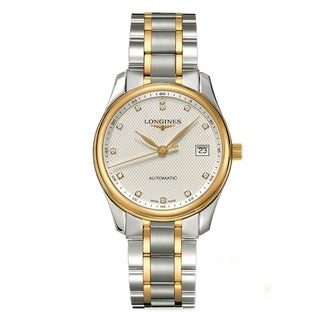 Link to Longines Men's L25185777 'Master' 18kt Yellow Gold Diamond Automatic Two-Tone Stainless Steel Watch Similar Items in Men's Watches