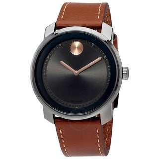 Movado Men's 3600378 'Bold' Brown Leather Watch