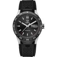 Tag Heuer Men's SAR8A80.FT6045 'Connected' Smartwatch Android 4.3+ IOS 8.2+ Bluetooth Microphone Black Rubber Watch