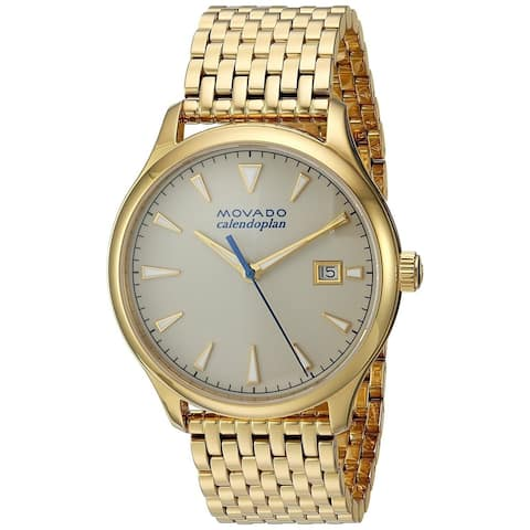 Movado Men's 3650013 'Heritage' Gold Tone Stainless Steel Watch