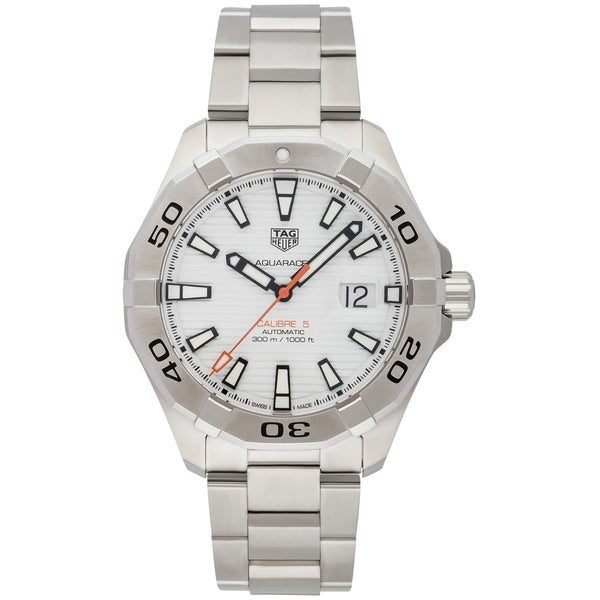f8c49816a5b7 Shop Tag Heuer Men s WAY2013.BA0927  Aquaracer  Automatic Stainless Steel  Watch - Free Shipping Today - Overstock - 21013452
