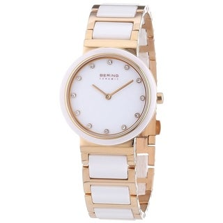 Bering Women's 10729-766 'Ceramic' Crystal Two-Tone Stainless steel and Ceramic Watch