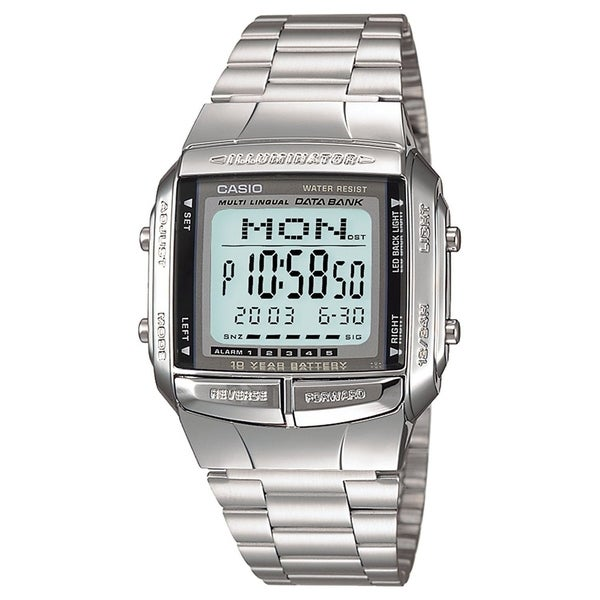 Shop Casio Women s DB-360-1A  Classic  Digital Stainless Steel Watch - Free  Shipping Today - Overstock - 21013463 f69d727a57