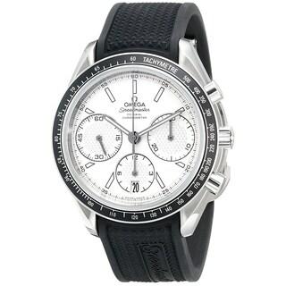 Omega Men's 'Speedmaster' Chronograph Automatic Black Rubber Watch