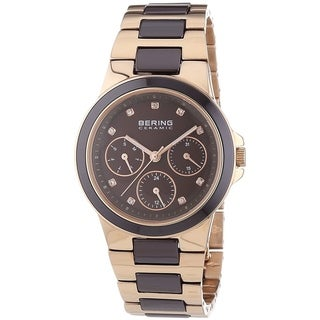 Bering Women's 32237-765 'Ceramic' Multi-Function Crystal Two-Tone Stainless steel and Ceramic Watch