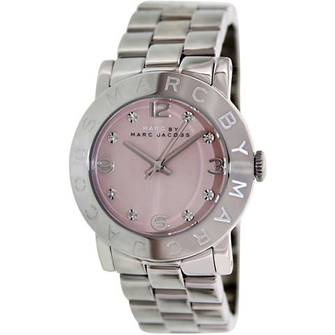 Marc Jacobs Women's 'Amy' Crystal Stainless Steel Watch