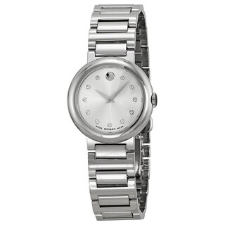 Movado Women's 0606789 'Concerto' Diamond Stainless Steel Watch