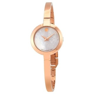 Movado Women's 0607082 'Bela' Rose-Tone Stainless Steel Watch
