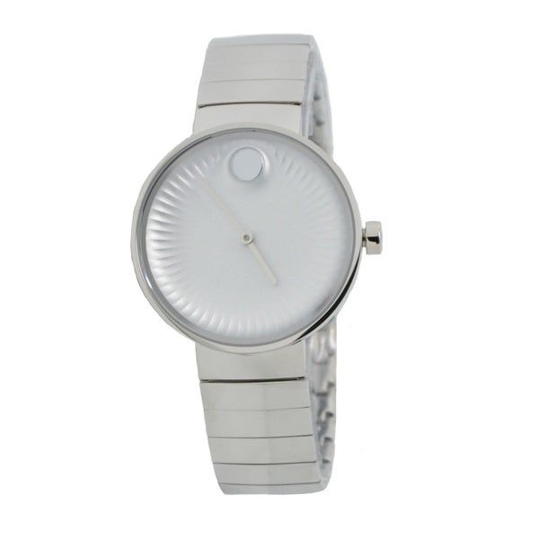 ecfd81fc2 Shop Movado Women's 'Edge' Stainless Steel Watch - Free Shipping Today -  Overstock - 21013520