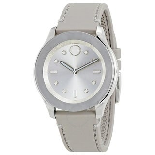 Movado Women's 'Bold' Grey Leather Watch