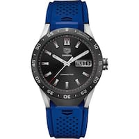 Tag Heuer Men's SAR8A80.FT6058 'Connected' Smartwatch Android 4.3+ IOS 8.2+ Bluetooth  Microphone Blue Rubber Watch