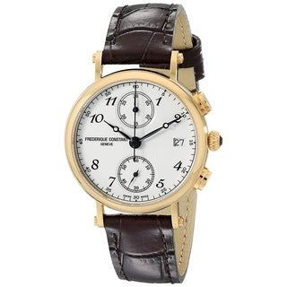 Frederique Constant Women's FC291A2R5 'Classics' Chronograph Brown Leather Watch