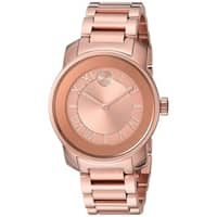 Movado Women's  'Bold' Rose-Tone Stainless Steel Watch