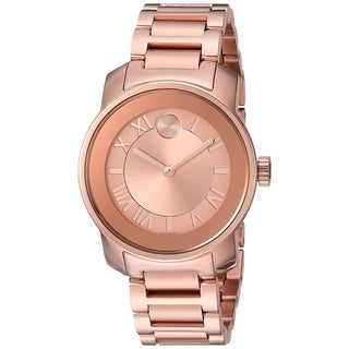 Movado Women's 3600441 'Bold' Rose-Tone Stainless Steel Watch