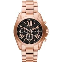 Michael Kors Women's  'Bradshaw' Chronograph Rose-Tone Stainless Steel Watch