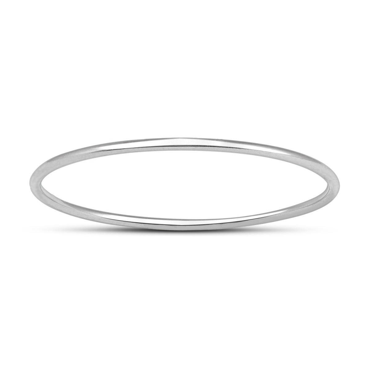 14K White Gold 1mm Thin Domed Wedding Band Ring