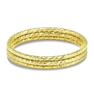 14k Gold Filled Hammered Sparkle Stackable Rings