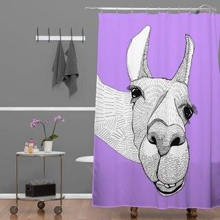 Casey Rogers Llama Shower Curtain