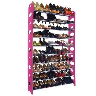 Studio 707 Pink Multi-Size Shoe Rack (10tier pink)