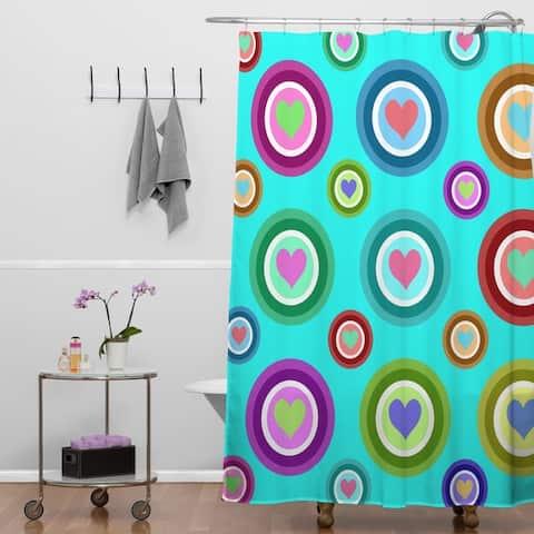 Lisa Argyropoulos Love Love Love Aquamint Shower Curtain