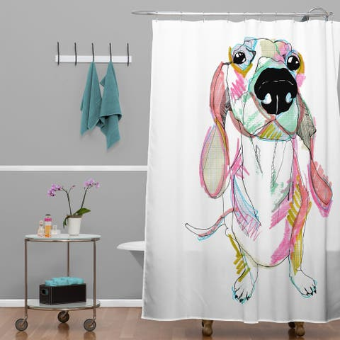 Casey Rogers Sausage Dog Shower Curtain