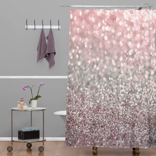 Lisa Argyropoulos Girly Pink Snowfall Shower Curtain