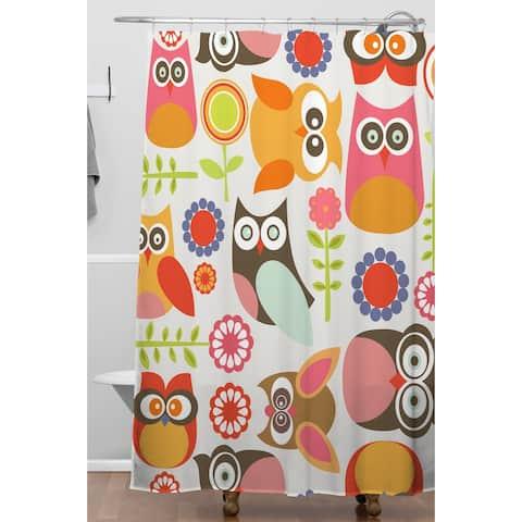 Valentina Ramos Cute Little Owls Shower Curtain