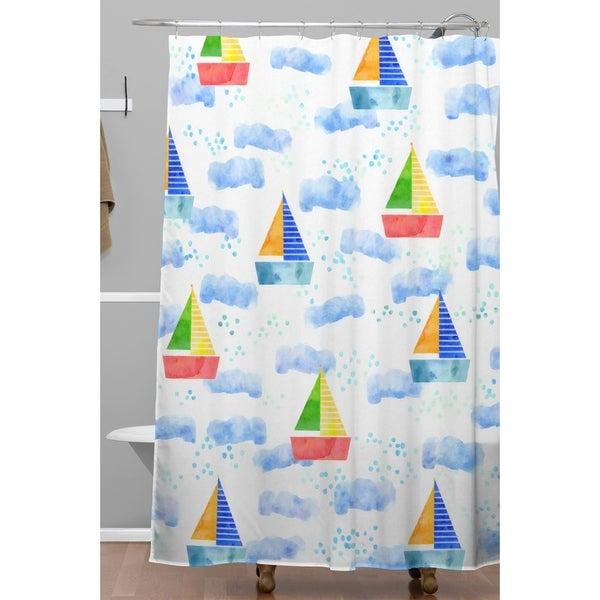 Hello Sayang Ahoy Hoy Shower Curtain