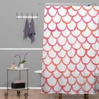 Social Proper Scalloppy Shower Curtain