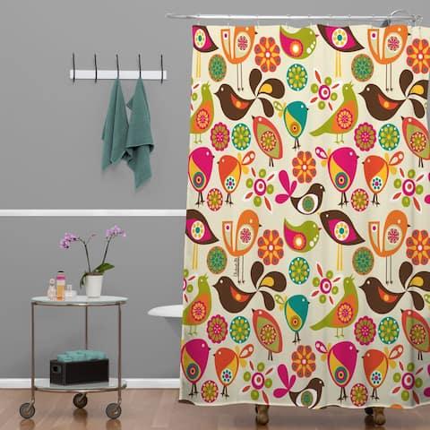 Valentina Ramos Little Birds Shower Curtain