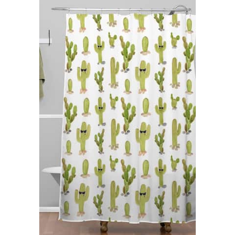 Wonder Forest Cool Cacti Shower Curtain