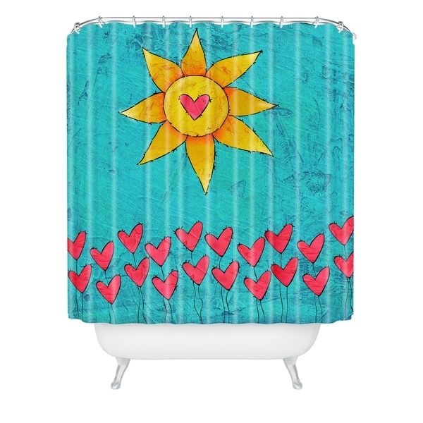 69 x 72 Deny Designs Isa Zapata All You Need Is Love Shower Curtain
