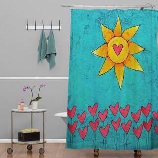 Isa Zapata Love Garden Shower Curtain
